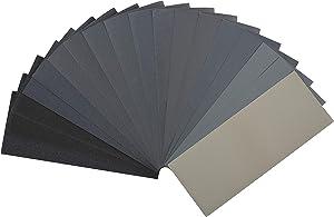 Bates- Sandpaper, 18 Pack, Assorted Grit, Sandpaper Assortment, Sand Paper, Sandpaper for Metal, Sandpaper for Wood, Automotive Sandpaper, Furniture Sanding, Fine Grit Sandpaper, Wet Dry Sandpaper
