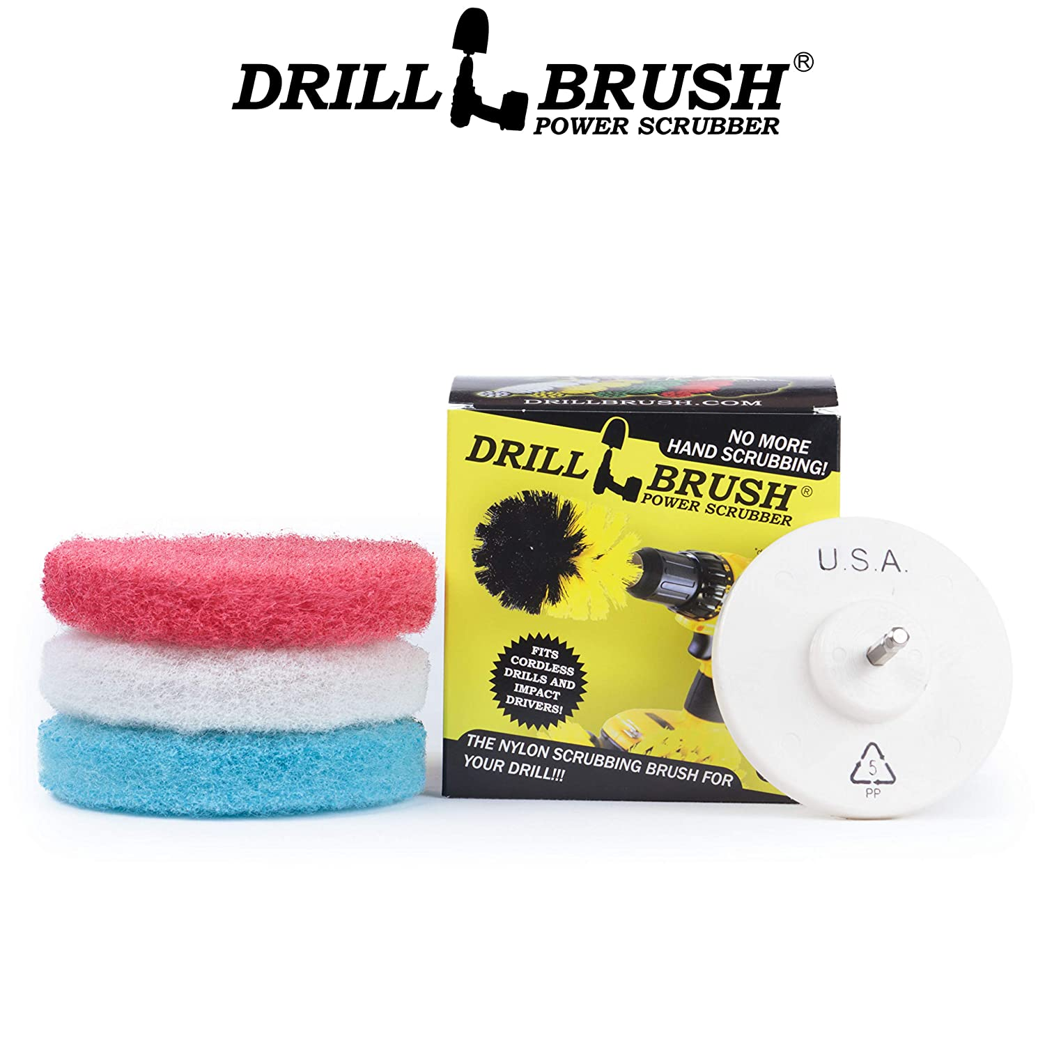 Amazon.com: Bathroom Cleaning Power Scrubber Scouring Pad Kit: Health & Personal Care