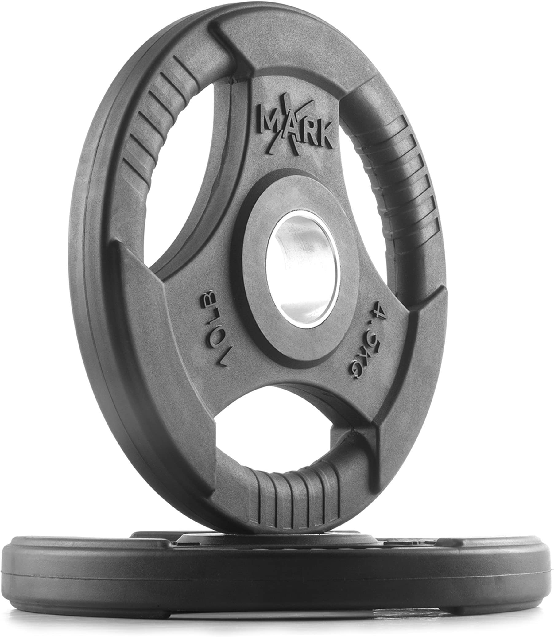 XMark Fitness Premium Quality Rubber Coated Tri-grip Olympic Plate Weights - Sold in Pairs  sc 1 st  Amazon.com & Plates Weight Plates | Amazon.com
