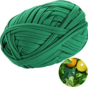 BBTO 30 Meter/ 98 Feet Green Garden Twine Garden Plant Tie Tree Tie Stretchy Plant Support Tie for Garden Office and Home Cable Organizing, Craft Supplies (1 Roll) (1)