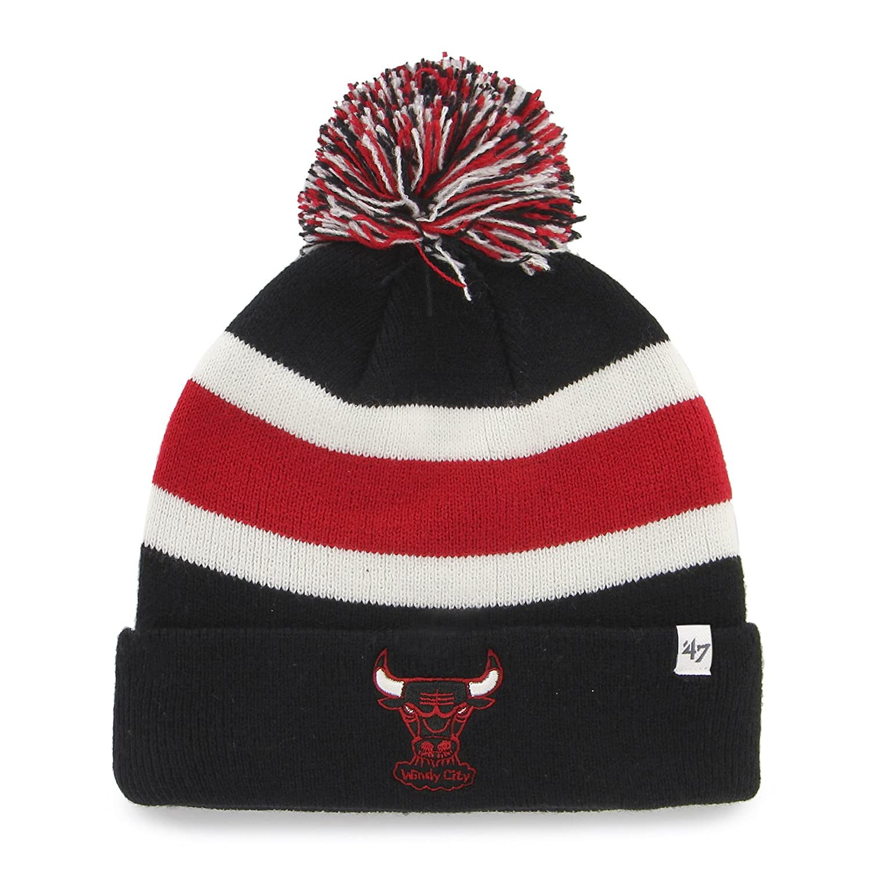 buy popular 47aac 2ce41 Amazon.com   NBA Chicago Bulls Breakaway Cuff Knit Cap, One Size, Black    Sports Fan Beanies   Clothing