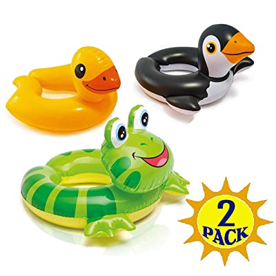 "The Wet Set 59220EP 24"" X 22"" Animal Split Swim Rings Assorted Styles: Toys & Games"