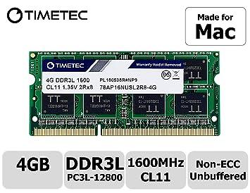US 4GB PC3L-12800s DDR3 1600MHz 1.35V Memory for Mac mini Late 2012 A1347