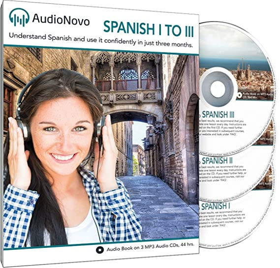 AudioNovo Spanish 1 to 3 - Learn Spanish the Quick and Easy Way from Zero  to Advanced Speaker  Learn Spanish in 3 Months, just 30min per Day or Get