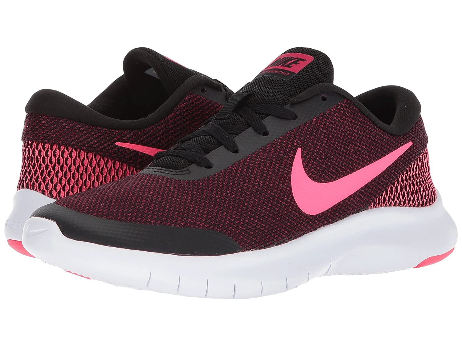 [NIKE(ナイキ)] レディーステニスシューズスニーカー靴 Flex Experience RN 7 Black/Racer Pink/Wild Cherry/White 7 (24cm) D - Wide B07FBB4F4F