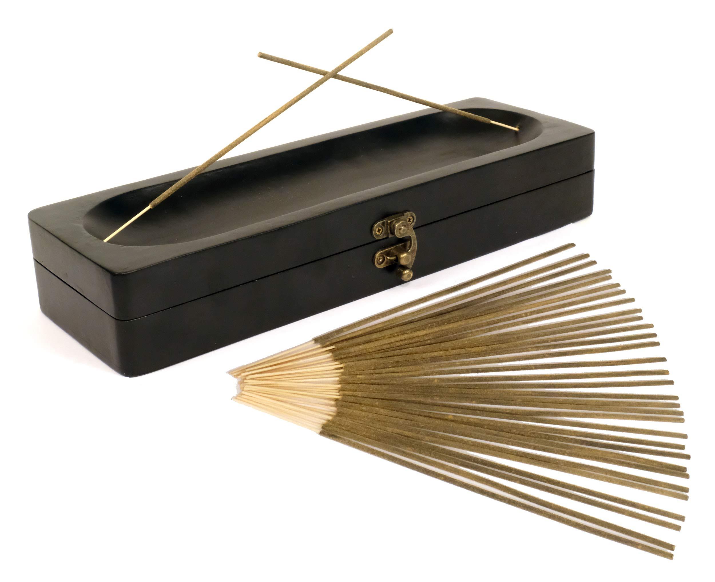 Natural Choice Incense Treasure Chest Incense Storage Box & Ash Catcher (Black) by Natural Choice Incense