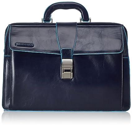 36 Cm Blue Dottore Pelle Square Piquadro Amazon Blu Notte Borsa Zqw6pgx