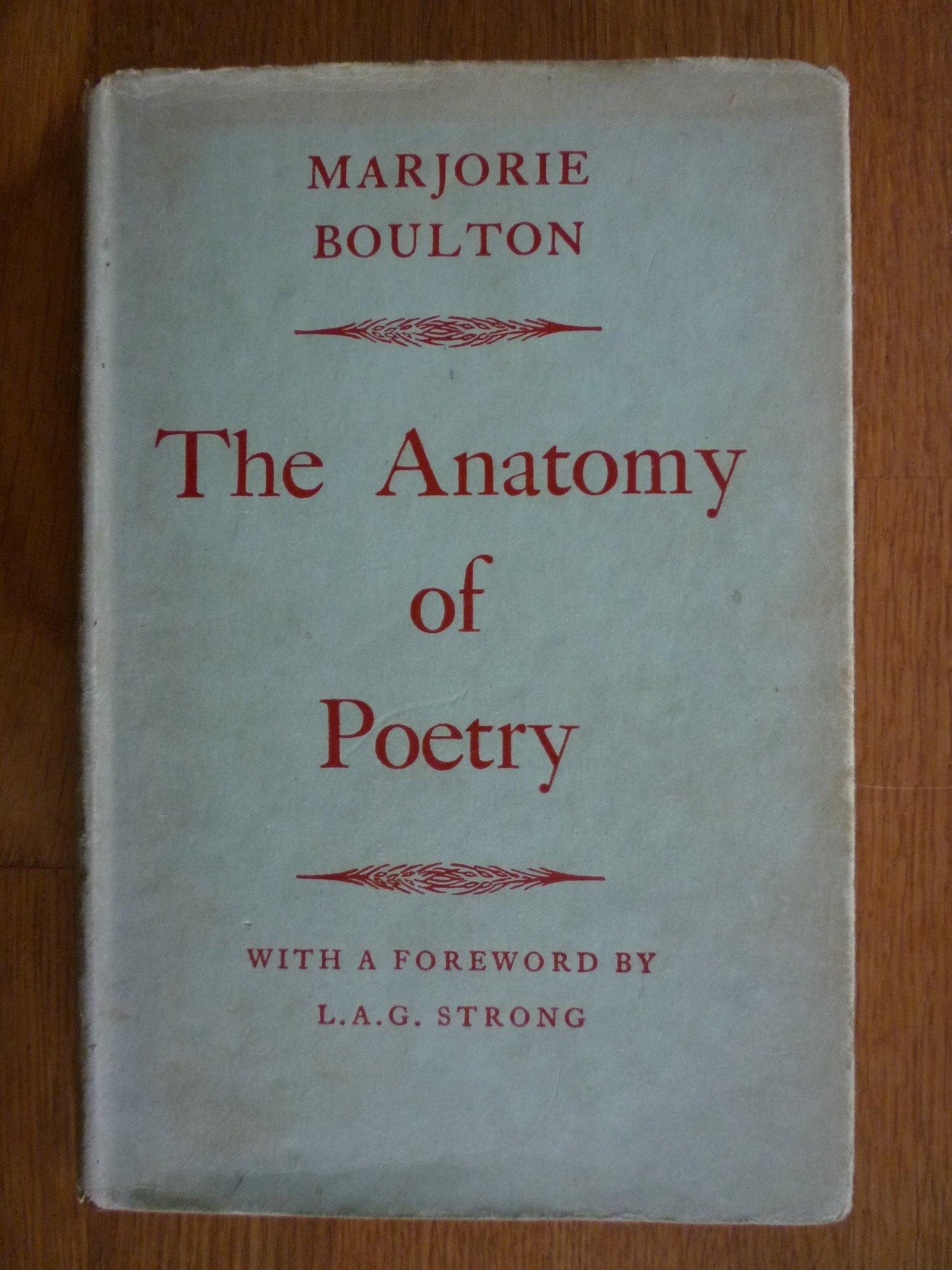 Anatomy Of Poetry Amazon Marjorie Boulton 9780710010995 Books