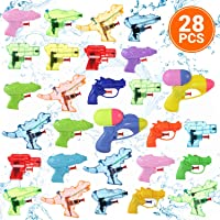 Small Water Gun Toys 28 Pcs Pack for Kids, Set of Assorted Mini Blasters, Pistols, and Squirt Guns Best for Swimming…