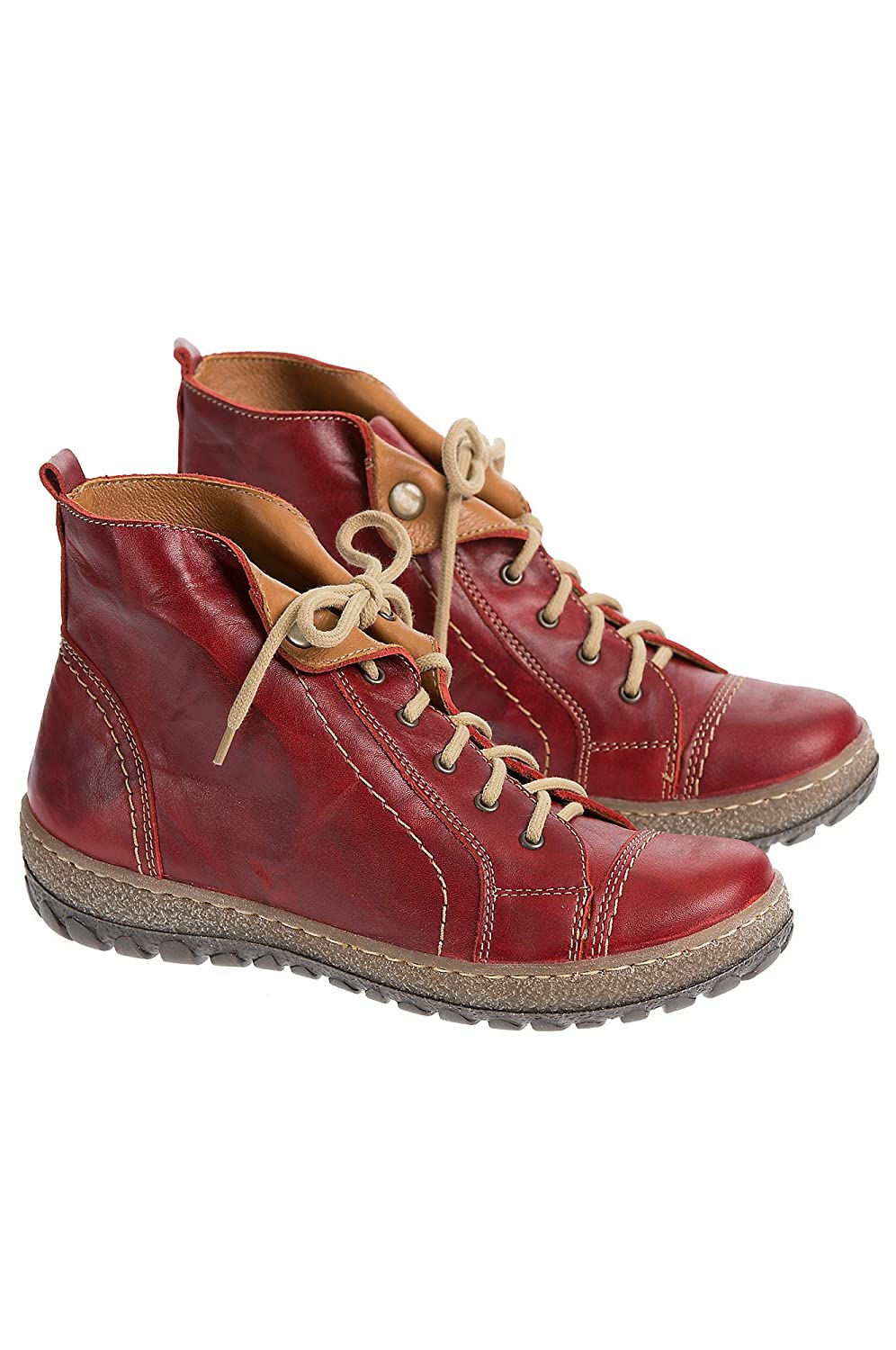 Women's Overland Tucker Leather Ankle Boots B00XNXU6T6 EU38|Red