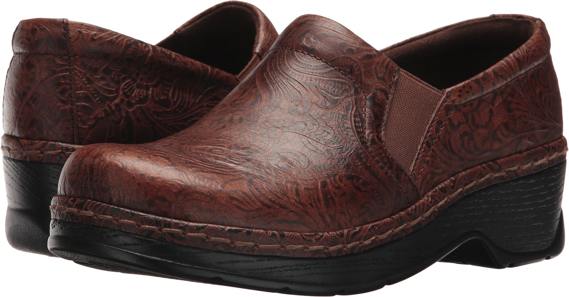 Klogs Footwear Women's Naples Brown JW Floral 10 M US