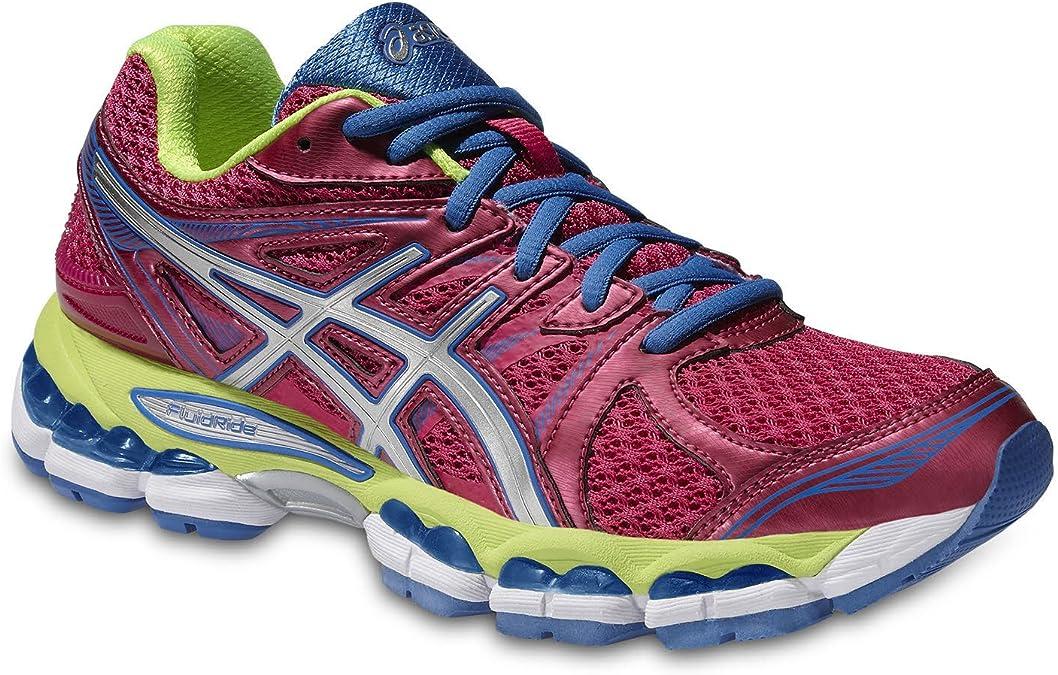 Asics T4a7q/3601 - Zapatillas de running para mujer PINK/SILVER/FLASH YE: Amazon.es: Zapatos y complementos
