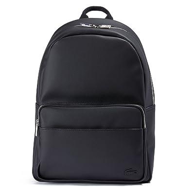 Sac à dos LACOSTE Backpack L.12.12 Concept Zippé Noir  Amazon.fr ... d095445af5e3