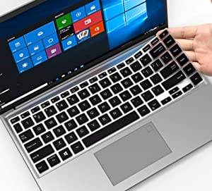 Keyboard Cover for ASUS VivoBook S14 S433 S433EA S433F S433FA-DS51 S433FL S435 S435EA, ASUS Flip 14 M413 TM420 TM420IA TM420UA, ASUS E410 L410 L410MA-DB02,ZenBook 14 UX435EG Q407IQ Laptop Skin,Black