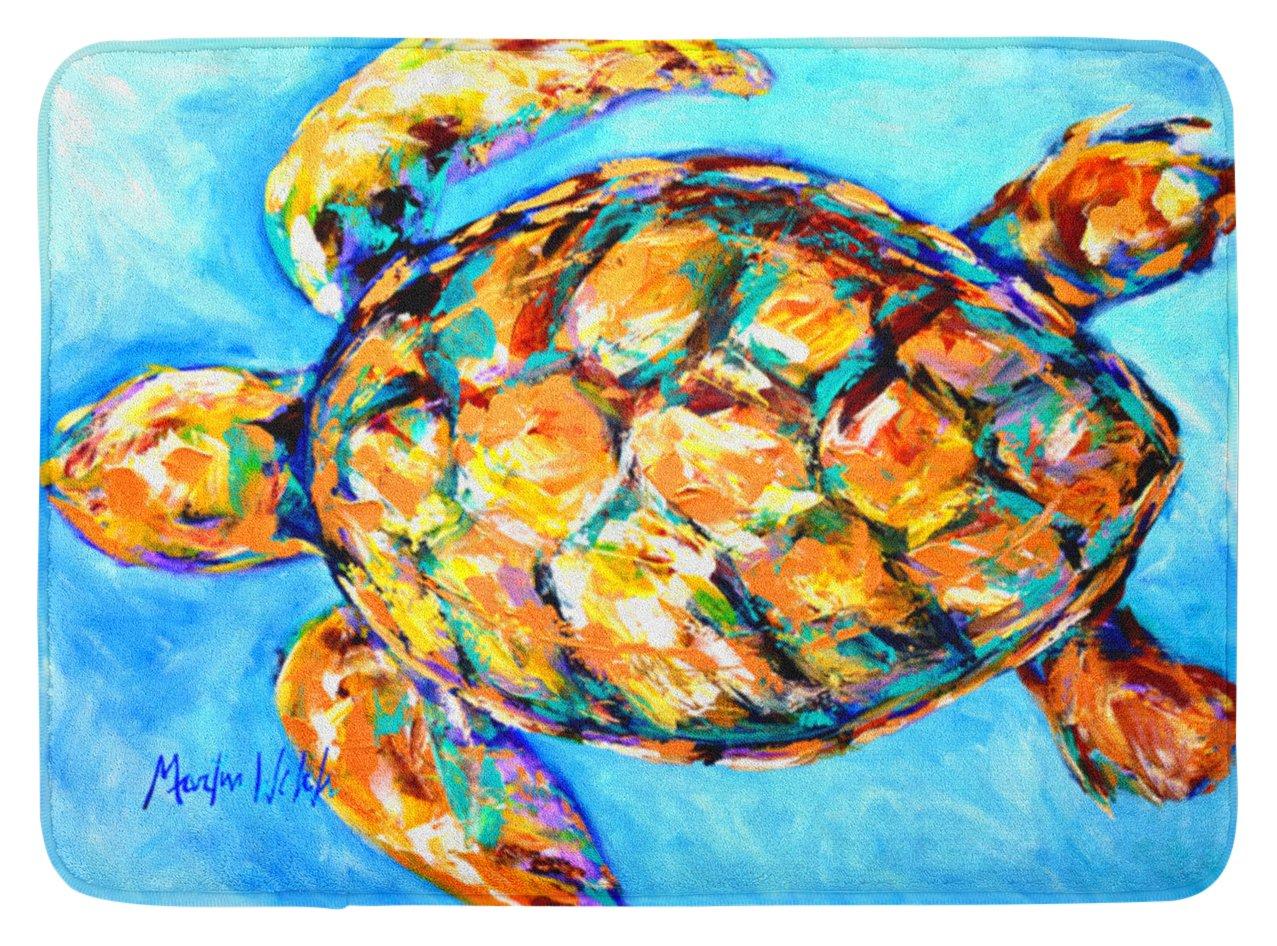Caroline's Treasures MW1150RUG ''Sand Dance Turtle'' Floor Mat, 19'' x 27'', Multicolor