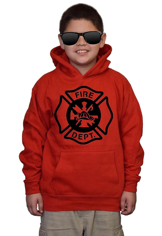 Youth Fire Dept V484 Red kids Sweatshirt Hoodie