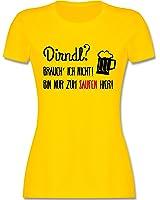 Oktoberfest Damen - Dirndl? Brauch' ich nicht! Bin nur zum saufen hier. - tailliertes Premium T-Shirt mit Rundhalsausschnitt für Damen