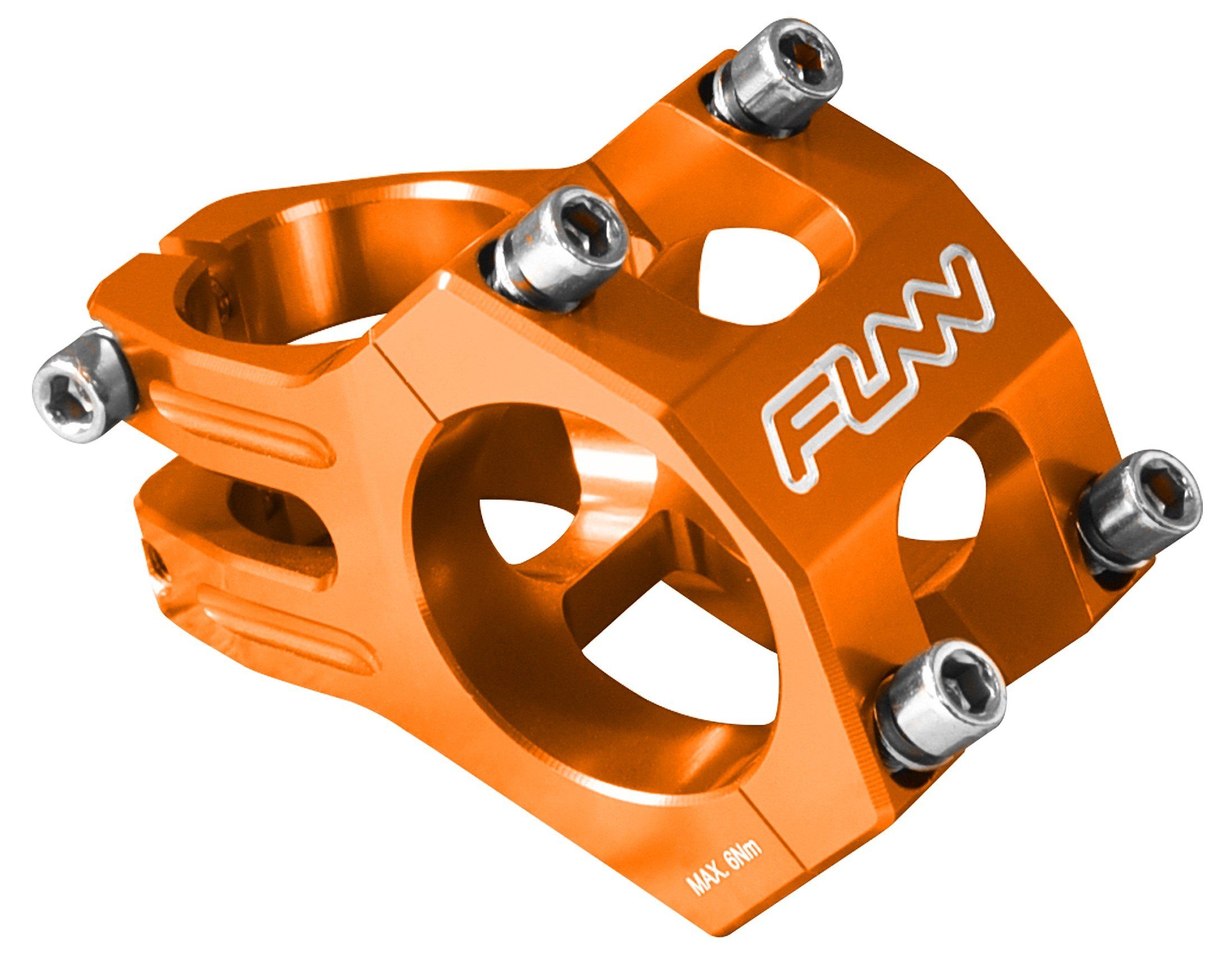 Funn Funnduro MTB Stem, Bar Clamp 31.8mm (Length 35mm, Orange)