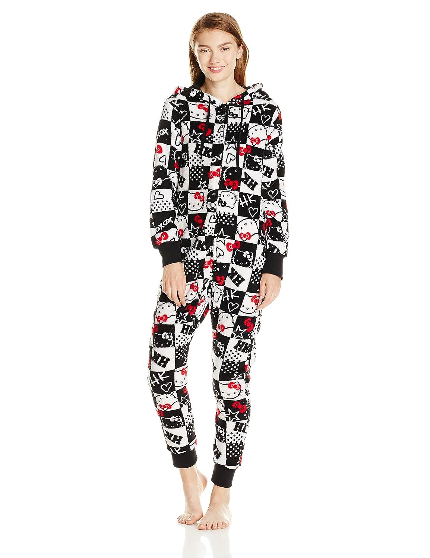92843c5cf Hello Kitty Women s Hooded One Piece Pajama