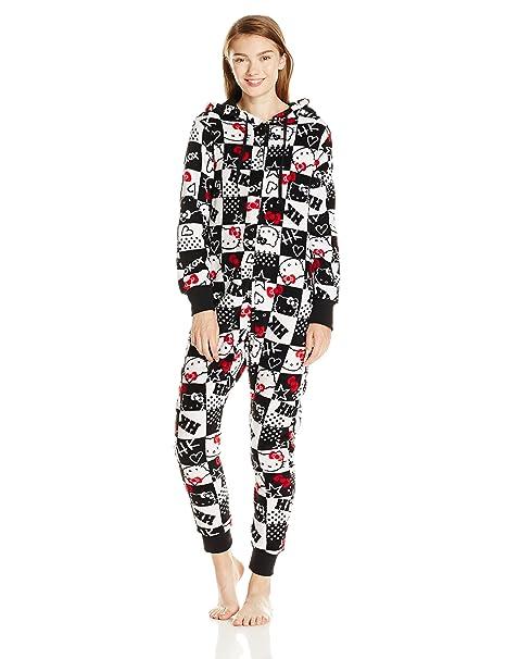 Hello Kitty - Funda de Pijama con Capucha para Mujer - Multi - S