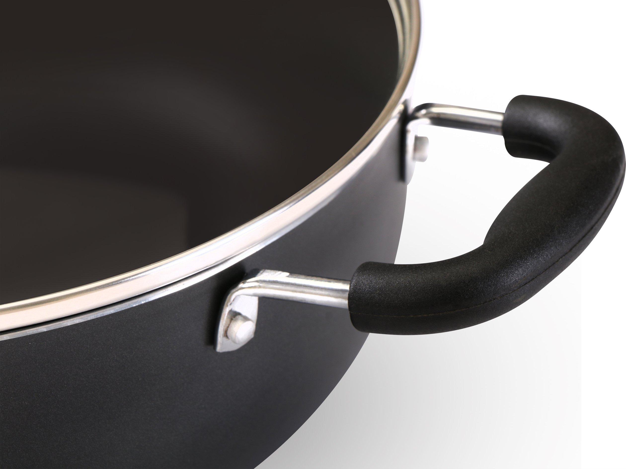 Utopia Kitchen - 11 Inch Nonstick Deep Frying Pan - 4.6 Quart Sauté Pan - Aluminum Jumbo Cooker with Glass Lid - Dishwasher Safe by Utopia Kitchen (Image #7)
