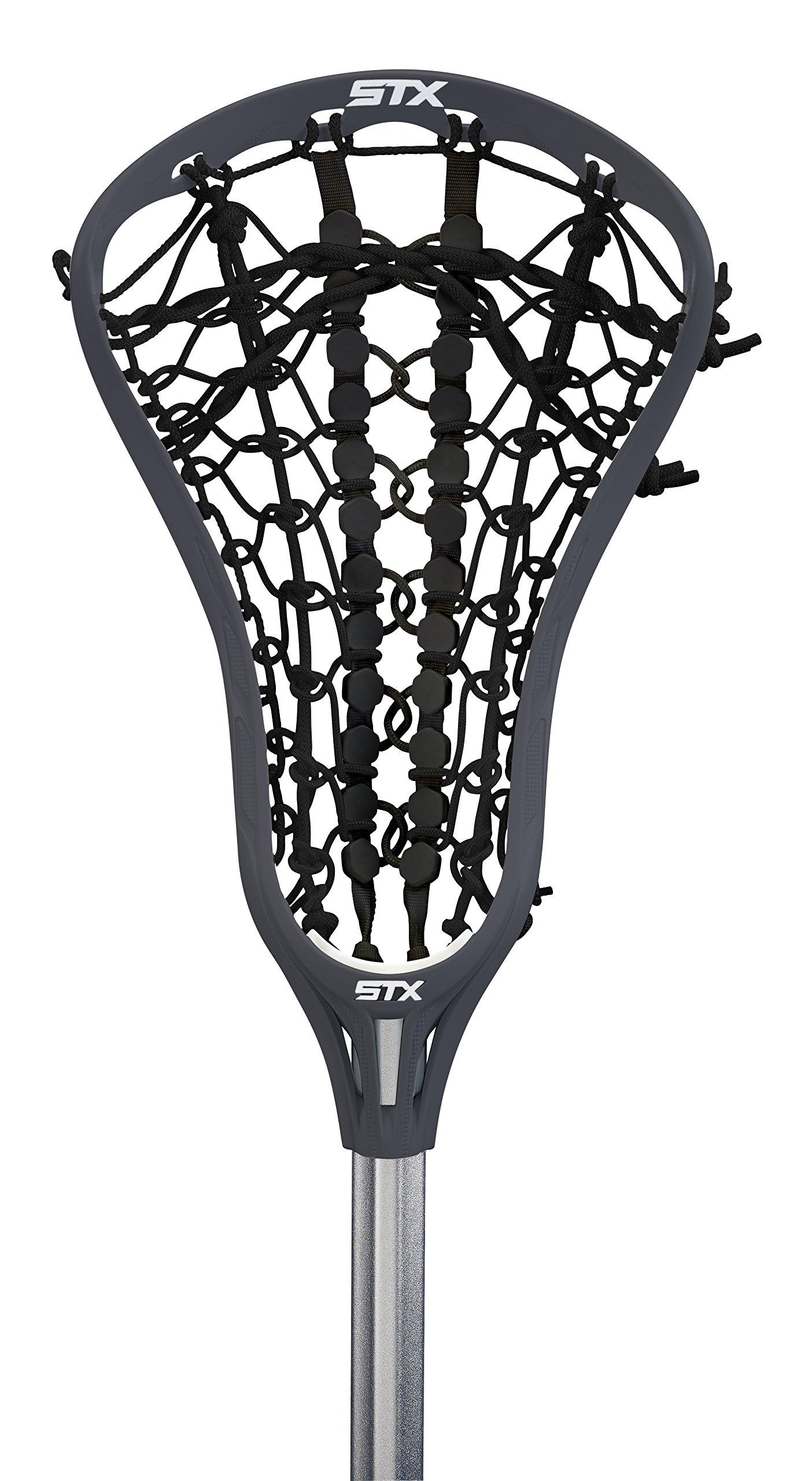 STX Lacrosse Women's EXULT 300 Complete Stick Graphite Gray Head and Black Runway Pocket on 7075 Handle