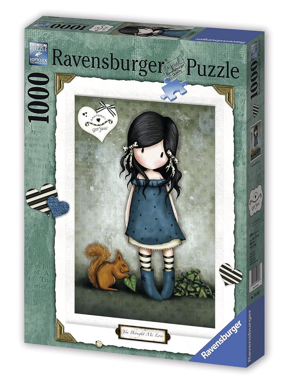 Ravensburger 19130 - Puzzle (1000 piezas), diseño de niña y ardilla ...