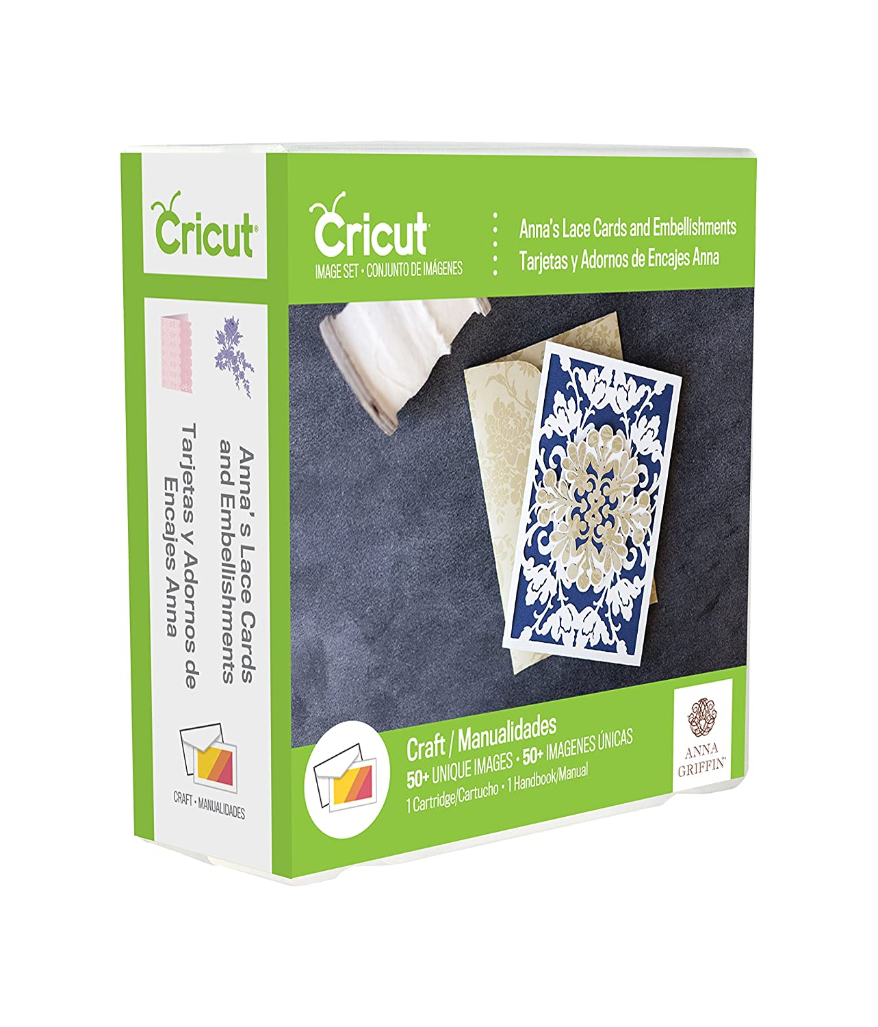 Provo Craft 2002879 Cricut Shape Cartridge-Anna Griffin Lace cards & Embellishments by Provo Craft B012TMYQWY