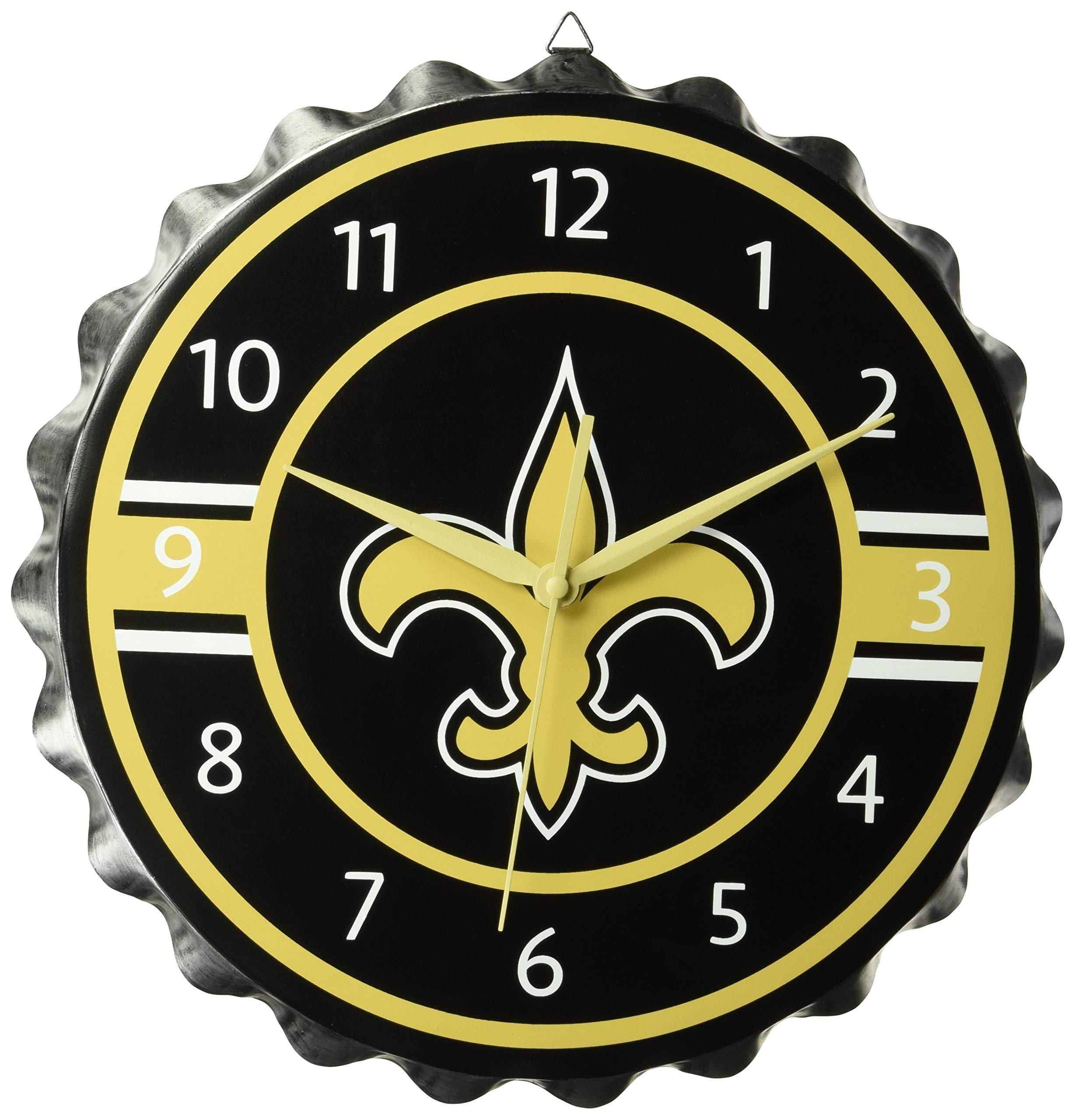 New Orleans Saints Bottlecap Clock by FOCO