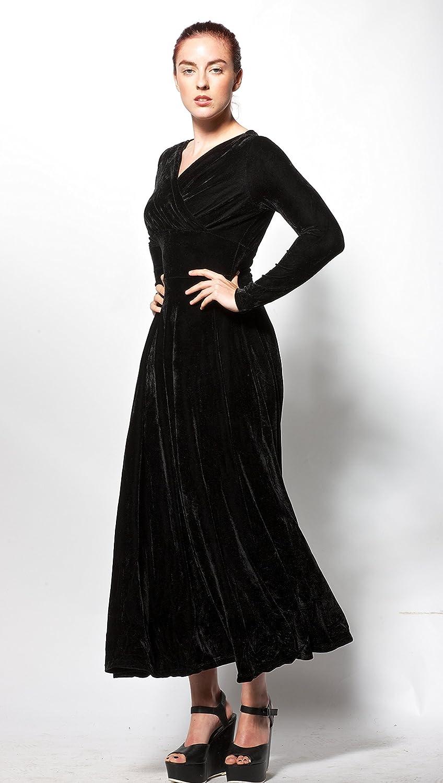 atopdress Womens Long Sleeve Evening Dress 20 Black: Amazon.co.uk: Clothing