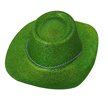 LARGE GREEN GLITTER COWBOY HAT IRISH ST PATRICKS FANCY DRESS COWBOY COWGIRL  HEN STAG NIGHTS (PACK OF 1)  Amazon.co.uk  Toys   Games 5546c9ce70a