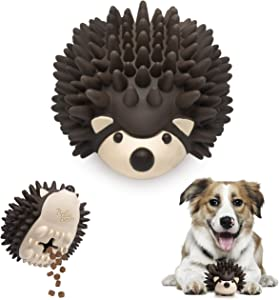 BellaBoo Pets Interactive Dog Toy for Strong Chewers - Freddy The Hedgehog All-in-One Treat Ball + Food Dispensing Slow Feeder Dog IQ Puzzle + Dental Chew Toy for Medium and Large Breed Dogs