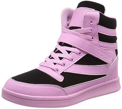 44d656737e UBFEN Damen Sneaker Wedges Keilabsatz Schuhe High Top Stiefeletten  Sportschuhe Klettverschluss Freizeitschuhe Turnschuhe Stiefel 38 EU