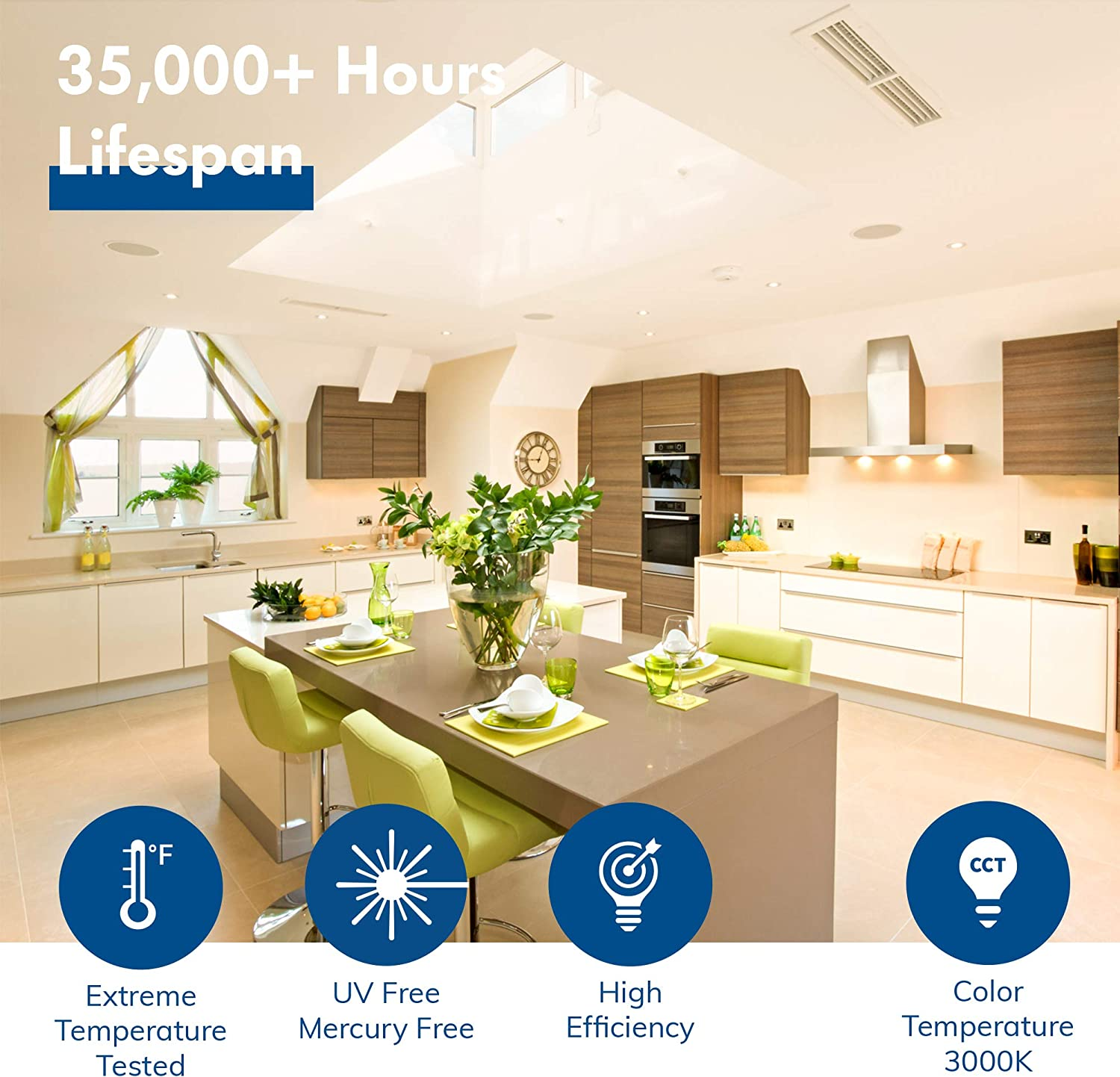 Dimmable Downlight 12 Pack Energy Star Soft White 9W=65W UL Hyperikon 4 Inch LED Recessed Lighting