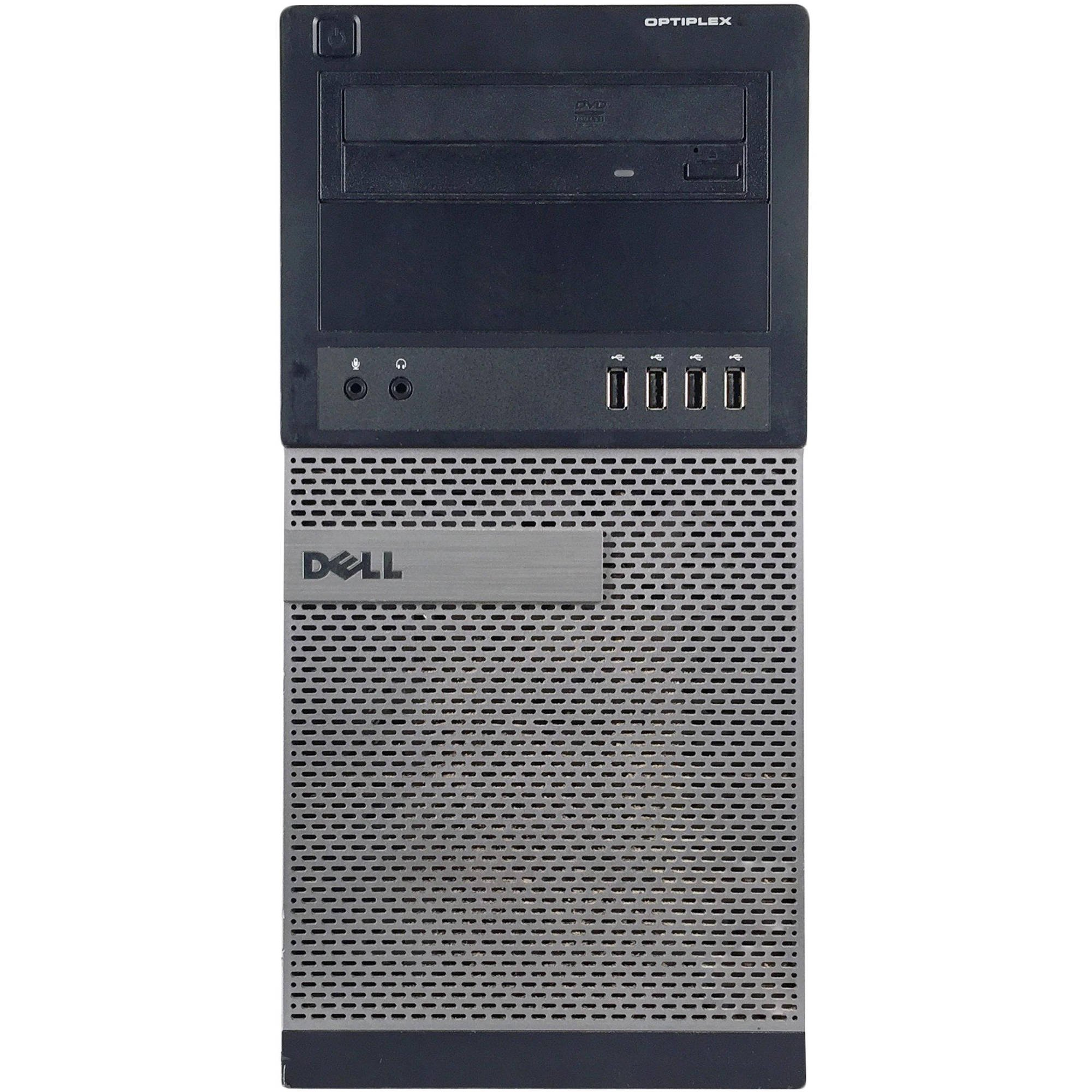 Dell Optiplex 990 Tower Premium Business Desktop Computer (Intel Quad-Core i5-2400 up to 3.4GHz, 16GB DDR3 Memory, 2TB HDD + 120GB SSD, DVD, WiFi, Windows 10 Professional) (Certified Refurbished)