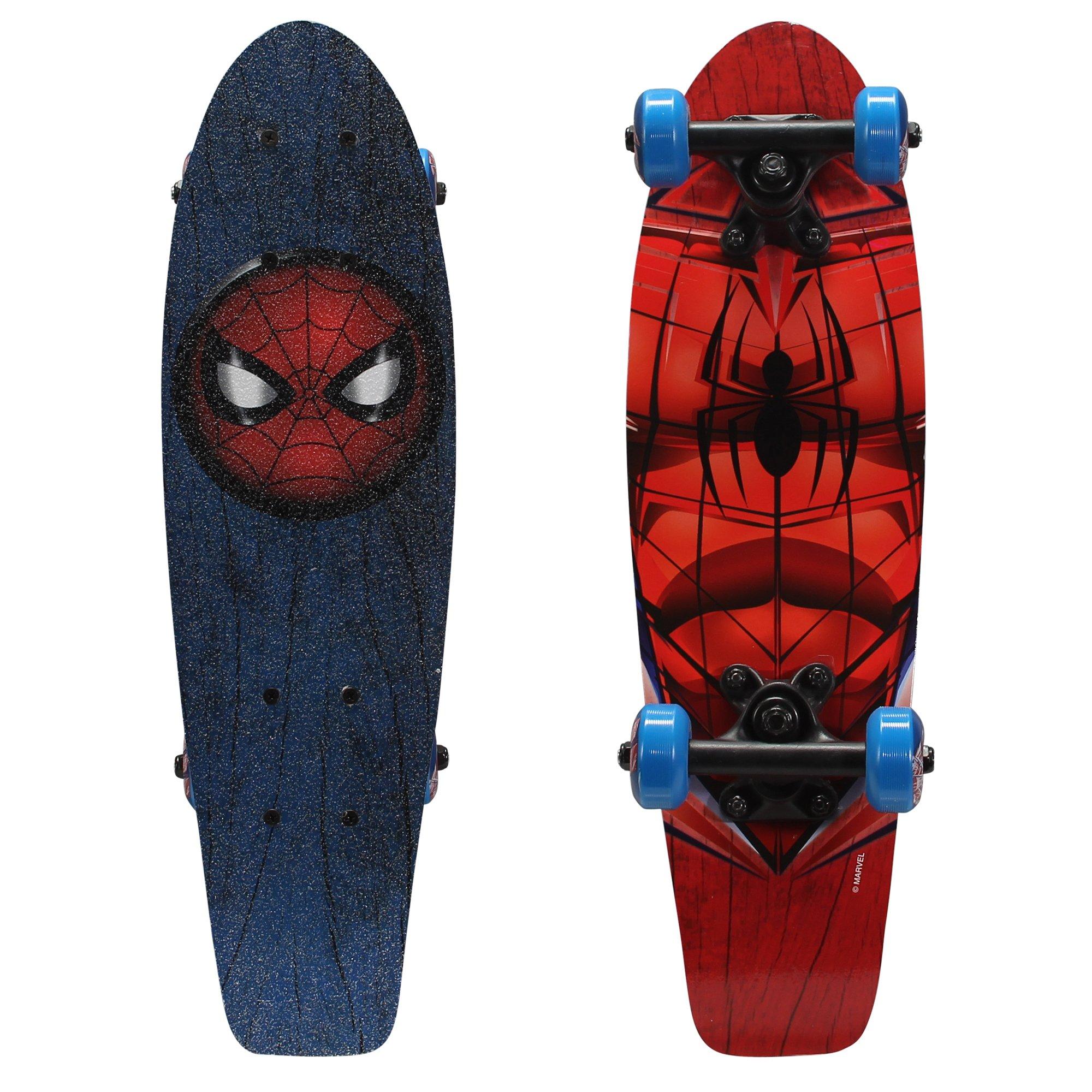 PlayWheels Ultimate Spider-Man 21'' Wood Cruiser Skateboard, Spidey Eyes