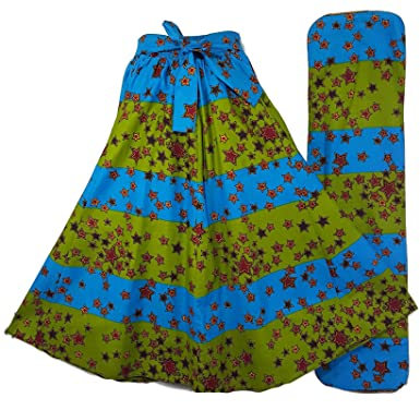5a1753352ce Amazon.com  Decoraapparel African Wax Skirts Long Dashiki Maxi Skirts One  Size  Clothing