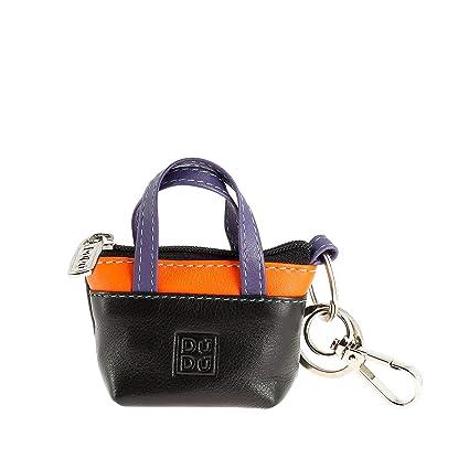 f5b2b333bb DUDU Porte-clés à Petit Sac Porte-Monnaie en Cuir coloré avec Fermeture Zip  2 Anneaux et Mousqueton Noir: Amazon.fr: Bagages