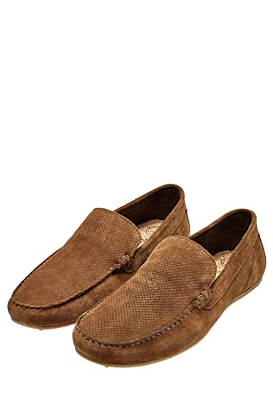 next Herren Perforierte Mokassins Slipper Veloursleder