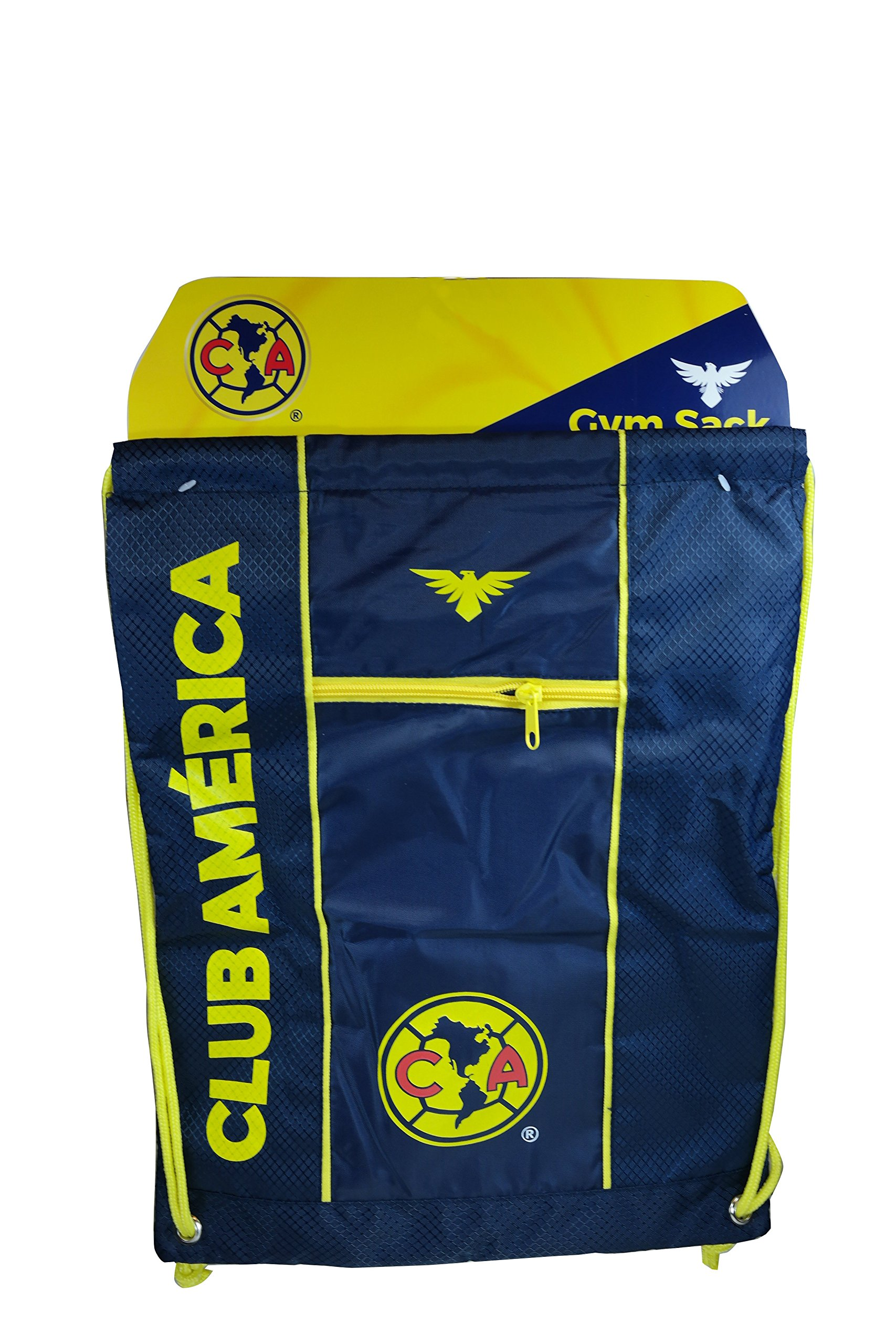 Club America Authentic Official Licensed Soccer Drawstring Cinch Sack Bag 011