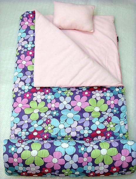 Colección infantil de rayas, flores de lavanda bolsa de dormir