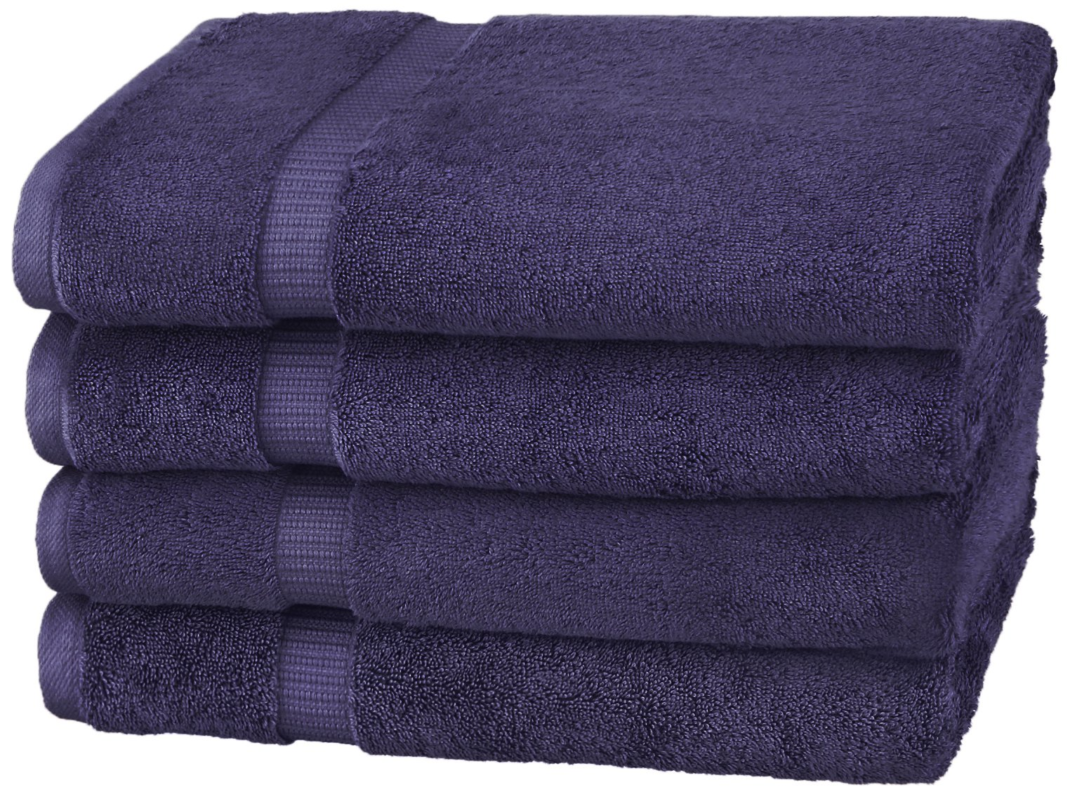 Pinzon Organic Cotton Bath Towels (4 Pack), Navy