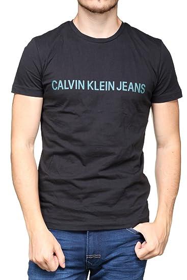 Calvin Klein - Tee Shirt J30j307856 Institutional 901 Black  Amazon.fr   Vêtements et accessoires c5bee023fce