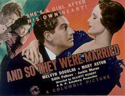Image result for and so they were married 1936 poster