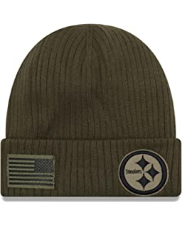 New Era Pittsburgh Steelers Beanie On Field 2018 Salute to Service Knit  Green - One- d729e707d