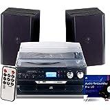 auvisio Kompaktanlage: 5in1-Plattenspieler mit Bluetooth, Digitalisier-Funktion und Software (Schallplatten Digitalisieren)