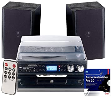 Auvisio - Equipo Estéreo: 5 in1 de Tocadiscos con Bluetooth ...