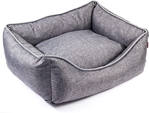 Boutique Zoo – Elegante cama para perros/gris, de lino Look/cama para perros para pequeñas/medianas/Perros Grandes | sofá, perros – Cojín para perros | XS, S, M, L, XL, XXL, XXXL: Amazon.es: Productos
