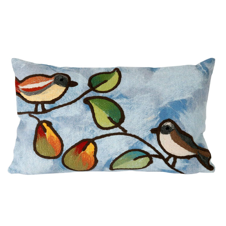 Liora Manne 7s01sa37903ミスティックIIIツリー鳥ブルー枕   B010E1WFN4
