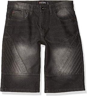Boys Shorts Dark Denim Distressed Knee Length Turn Up Hem Kids 8 to 11 Year